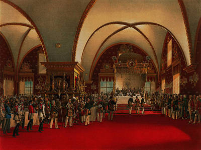 Poster featuring the digital art Coronation Banquet by Vasily Timm