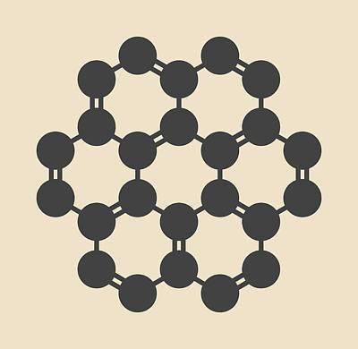 Coronene Hydrocarbon Molecule Poster by Molekuul