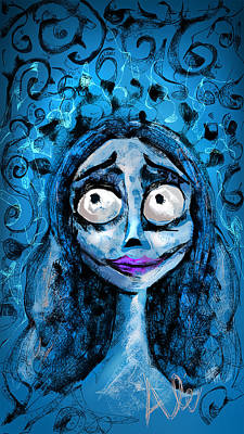 Corpse Bride Phone Sketch Poster