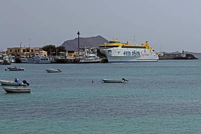 Corralejo Harbour Poster