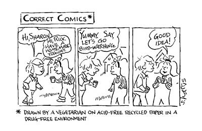 Correct Comics* *drawn By A Vegetarian Poster by Sidney Harri