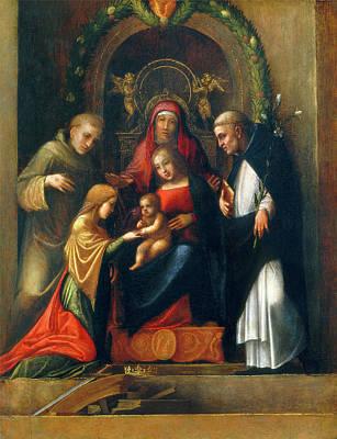 Correggio, The Mystic Marriage Of Saint Catherine Poster