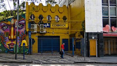 Correios - Sao Paulo Poster by Julie Niemela