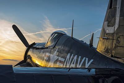 Corsair Sunset Poster