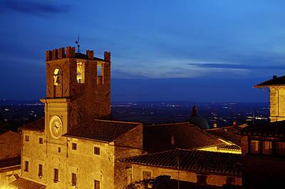 Cortona Tuscany Dusk Poster