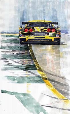 Corvette C6 Poster by Yuriy Shevchuk