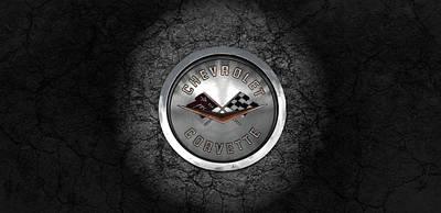 Corvette Emblem Poster
