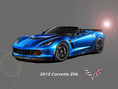 Corvette Z06 Convertible Poster by Gregory Murray