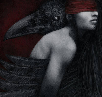Poster featuring the painting Corvidae by Pat Erickson
