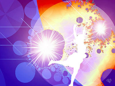 Cosmic Dance Poster by Ute Posegga-Rudel