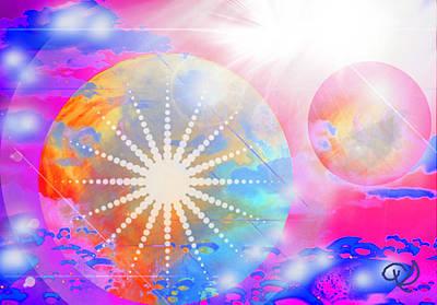 Cosmic Delight Poster by Ute Posegga-Rudel