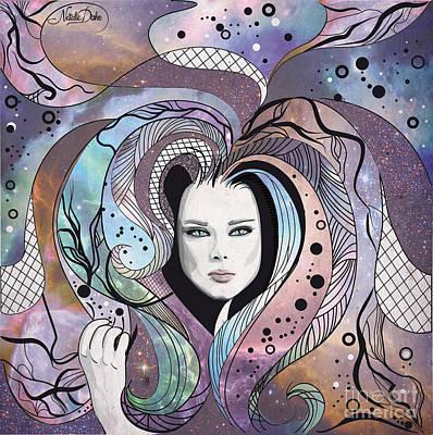 Cosmic Hair Poster by Disko Galerie