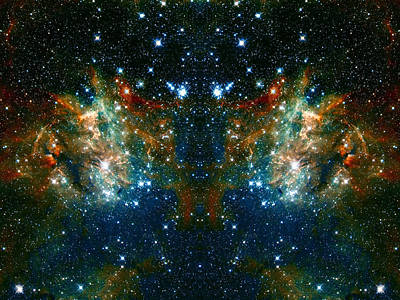 Cosmic Phoenix  Poster by Jennifer Rondinelli Reilly - Fine Art Photography