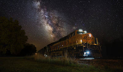 Cosmic Railroad Poster by Aaron J Groen