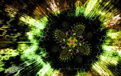 Cosmic Solar Flower Fern Flare Poster
