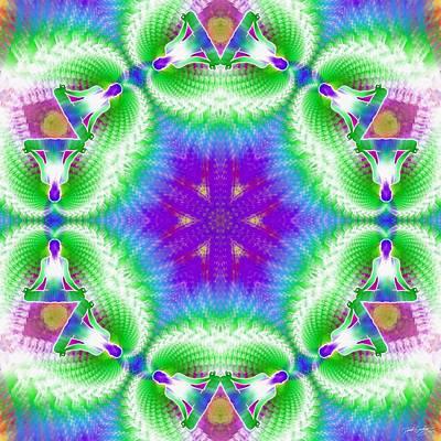 Cosmic Spiral Kaleidoscope 10 Poster by Derek Gedney