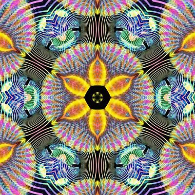 Cosmic Spiral Kaleidoscope 13 Poster by Derek Gedney
