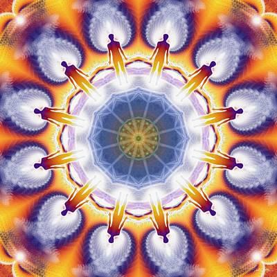 Cosmic Spiral Kaleidoscope 34 Poster by Derek Gedney