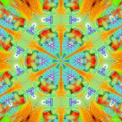 Cosmic Spiral Kaleidoscope 41 Poster by Derek Gedney