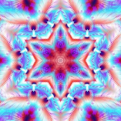 Cosmic Spiral Kaleidoscope 45 Poster by Derek Gedney