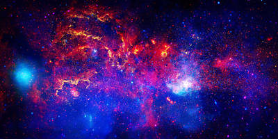 Cosmic Storm In The Milky Way Poster by Celestial Images
