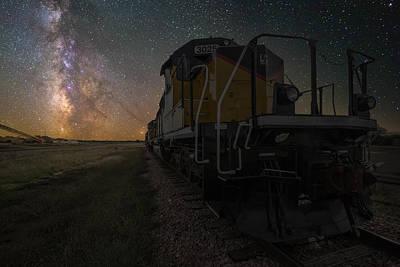 Cosmic Train Poster by Aaron J Groen