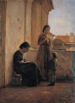 Cosola Demetrio, The Reading, 1871 - Poster by Everett