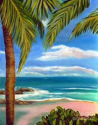 Poster featuring the painting Costa Rica Rocks   Costa Rica Seascape  by Shelia Kempf