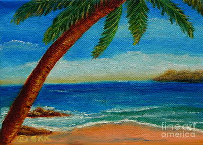 Poster featuring the painting Costa Rican Palm by Shelia Kempf