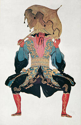 Costume Design For A Chinaman Poster by Leon Bakst