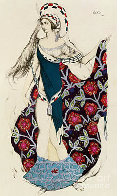 Costume Design Poster by Leon Bakst