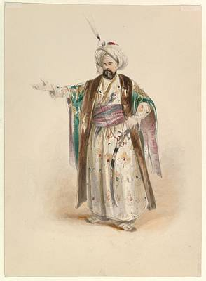Costume Study For Bassa Selim Poster by Johann Georg Christoph Fries