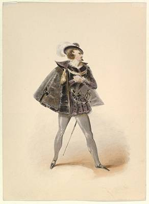 Costume Study For Belmonte Poster by Johann Georg Christoph Fries