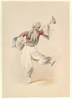 Costume Study For Pedrillo Poster by Johann Georg Christoph Fries