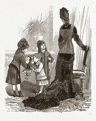 Costumes For A Young Mother And Children Poster