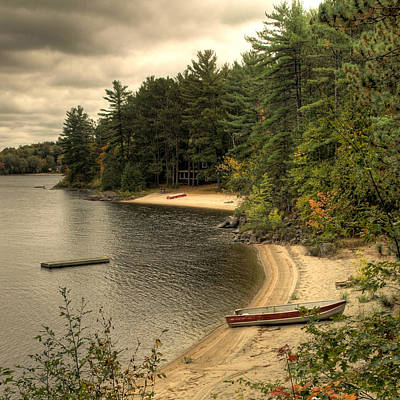Cottage Country Shoreline Ottawa River Poster by Rob Huntley