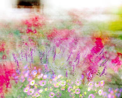 Poster featuring the photograph Cottage Garden Impressionism by Linde Townsend