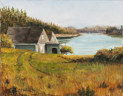 Poster featuring the painting Cottage Glow by Cindy Plutnicki