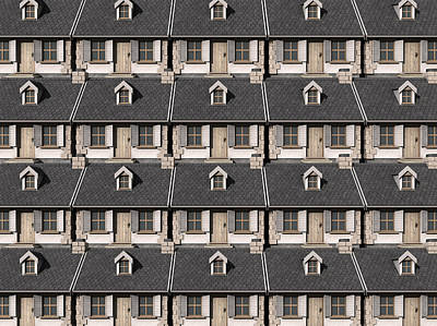 Cottage Neighbour Collage Poster by Allan Swart