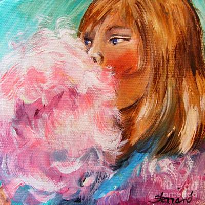 Poster featuring the painting Cotton Candy by Karen  Ferrand Carroll