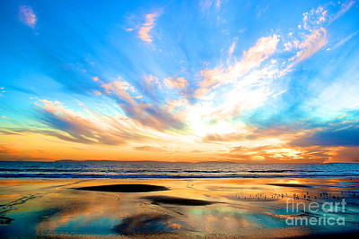 Cotton Candy Sunset Poster by Margie Amberge