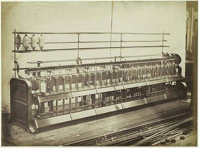 Cotton Machinery. Hibbert Poster