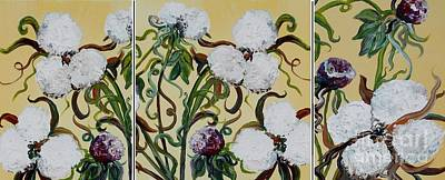 Cotton Triptych Poster