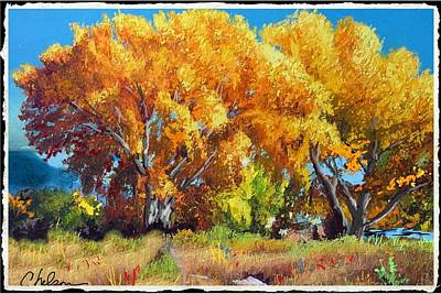 Cottonwoods Along The Colorado Poster by Craig Nelson