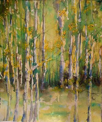 Cottonwoods Poster by Robin Miller-Bookhout