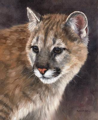 Cougar Cub Painting Poster by Rachel Stribbling