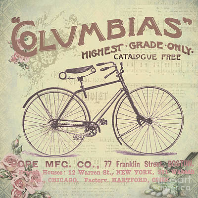 Coulmbias Bicycle Company Vintage Artwork Poster