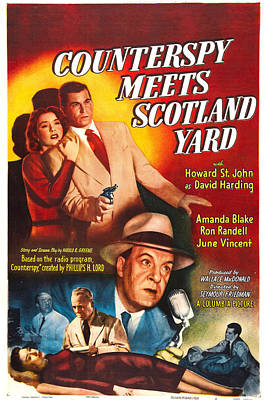 Counterspy Meets Scotland Yard, Us Poster by Everett