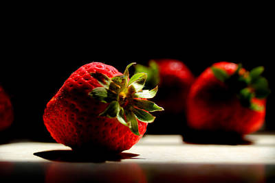Countertop Strawberries Poster by Michael Eingle