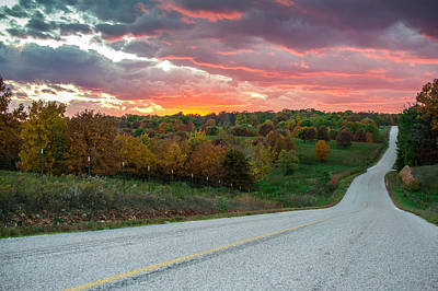 Poster featuring the photograph Country Back Roads - Northwest Arkansas by Gregory Ballos
